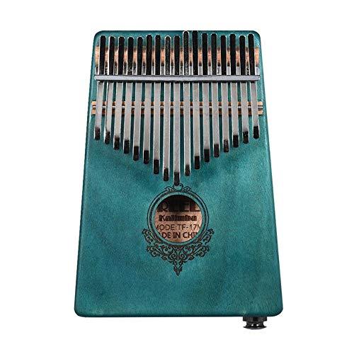 ZengBuks Creative 17 Key Kalimba Daumen Klavier Taschenformat Finger Klavier für Anfänger Kinder Holzmusikinstrument - Blau