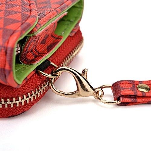 Kroo Pochette/étui style tribal urbain pour Alcatel ot-991d Brun rouge