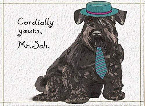 Zhenshang 1 Caricatura Perro Negro Sombrero Verde
