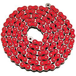 Chaîne renforcée #420 / 134 maillons - Rouge - Dirt Bike / Mini Moto