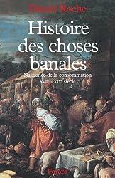 Histoire des choses banales : Naissance de la consommation (XVIIe-XIXe siècle) (Nouvelles Etudes Historiques)