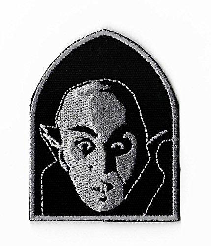 Zählen orlock Patch Bestickt Eisen/Nähen auf Badge DIY Aufnäher Nosferatu Horror Film Souvenir Vampir Monster Dracula Kostüm Retro