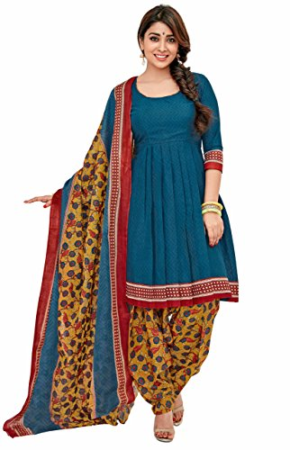 Miraan Women's Dress Material (SG1019_Blue_Free Size)