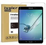 iVoler Protector de Pantalla Compatible con Samsung Galaxy Tab S2 8.0 Pulgadas (T710/T715), Cristal Vidrio Templado Premium [9H Dureza] [Alta Definicion 0.3mm] [2.5D Round Edge]