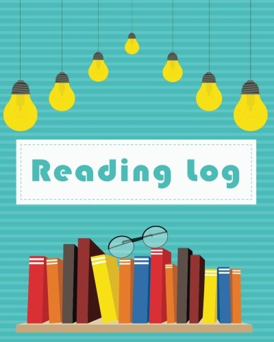Reading Log: Books on Shelf Style Reading Lover Journal Book Size 8x10 Inches 104 Pages: Volume 5 (Record Reading Book) por Michelia Creations