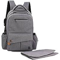 allcamp de bolsa para pañales XXX Large Capacidad Con cambiador 26L (X de gris)