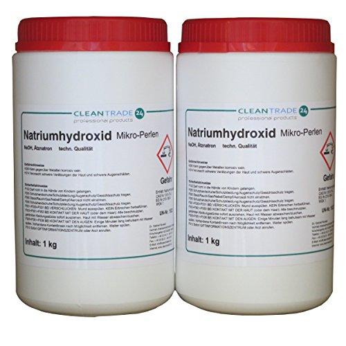 2 x 1 kg Ätznatron Natriumhydroxid Rohrreiniger Abflussfrei
