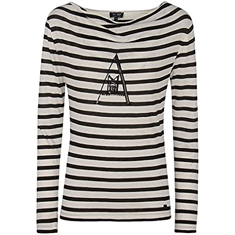 Armani Jeans maglia donna t shirt maniche lunghe a righe made in Italy 6X5M015J04Z