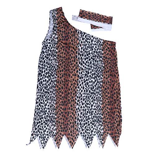 Amosfun Halloween Indische Kostüme Indigene Kleidung Erwachsene Leoparden Kleidung