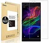 Razer Phone Screen Protector, Vigeer [2pezzi] [0.3mm, 2.5d] [trasparente] [durezza 9H] [FACILE installazione] [HD Clear] pellicola proteggi schermo in vetro temprato per Razer Phone