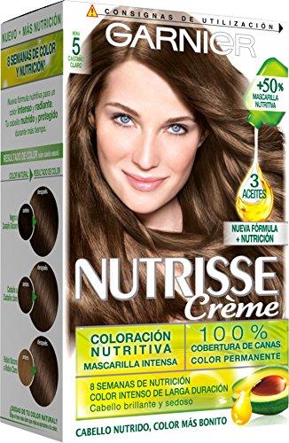 Garnier Nutrisse Creme Coloración permanente con mascarilla nutritiva de cuatro aceites - Tono: Castaño Claro 5