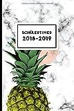 Schülertimer 2018-2019: trendiger Timer mit Ananas Motiv (Schulplaner für Teenager, Band 4)