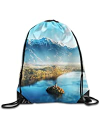 Preisvergleich für MaJack Schöner Rucksack mit Kordelzug im Landschafts-Stil, ideal für Reisen, Schulrucksack