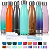 arteesol Wasserflasche-Doppelwand-Vakuum-Edelstahl-Flaschen-Auslaufsicher hält heiße und kalte Getränke für Laufen, Fitness, Wandern, Radfahren, Camping, Arbeiten (Kandiszucker, 750ml)