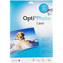 Diverse 88081861 - Paquete de 20 hojas de papel A4 Para Impresora, color Blanco, 160 g / m²