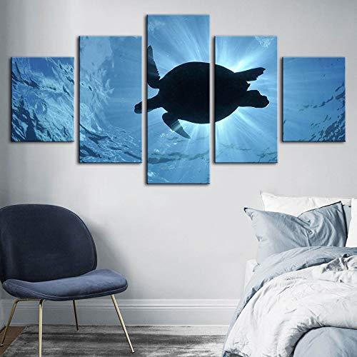 mmwin Plakat-Moderne Inneneinrichtungs-Schildkröte-Tierdruck-Wand-Kunst-modulares Meerblick PictureBedroom-Hintergrund-Kunstwerk