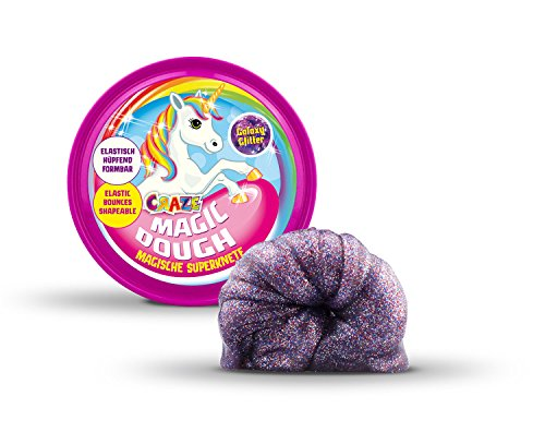 Craze 10464 - Magische Superknete - Magic Dough Unicorn, ca. 80 g in Dose, Galaxy Glitter