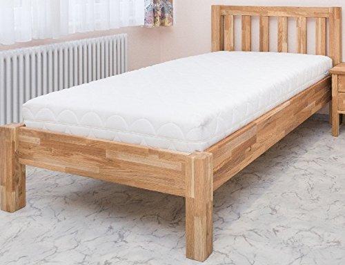 Einzelbett Eiche 100x220 BV-VERTRIEB Komfortbett Kinderbett Eiche massiv 100x220 Überlänge - (2759)