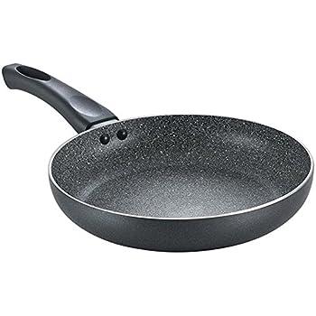 Prestige Omega Deluxe Aluminium Granite Fry Pan, 200mm (Omelette Pan), Black