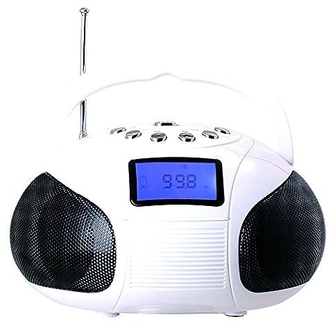August SE20 - Portable Alarm Clock Radio with Bluetooth Speaker