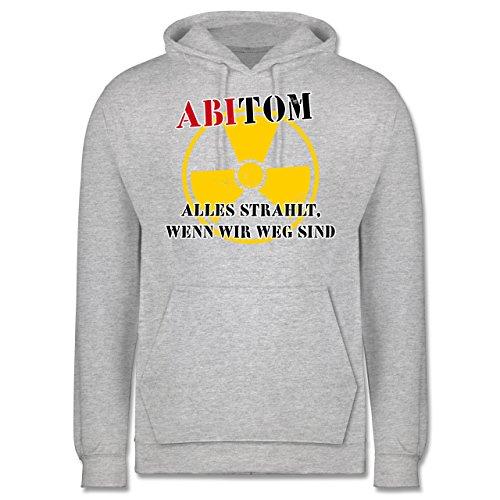Abi & Abschluss - ABItom- Alles strahlt, wenn wir weg sind - Männer Premium Kapuzenpullover / Hoodie Grau Meliert