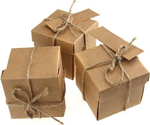 20x KRAFTPAPIER natur Geschenkkarton Geschenk Schachtel Karton