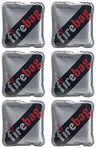 firebag Wärmflasche: 6er-Set Taschenwärmer warme Hände, wiederverwendbar (Handwärmer Taschenwärmer)