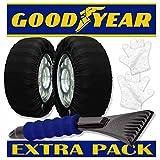 Pack ULTRA GRIP Copia di calze da neve Good Year, taglia L con raschietto ghiaccio Shinergy e guanti di montaggio