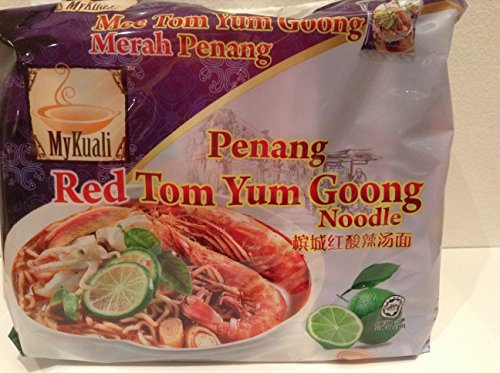 MyKuali Penang Red Tom Yum Goong Noodle (Pack of 4)/ Rated Top 10 by The Ramenrater