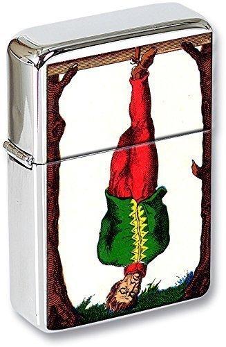 Tarot (Le pondu , The Hanged Muñeco) Mechero con tapa EN UNA LATA DE REGALO