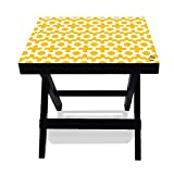 #9: Nutcase Designer Folding Wooden Side Table-Portable Foldable Compact Bed Side Coffee Table - 12 (L) x 15(w) x 16 (h)