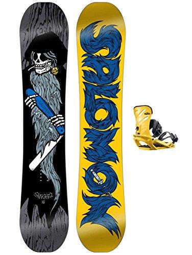 Herren Snowboard Set Salomon Sanchez 146 + Rhythm M Yellow 2017 Snowboard Set