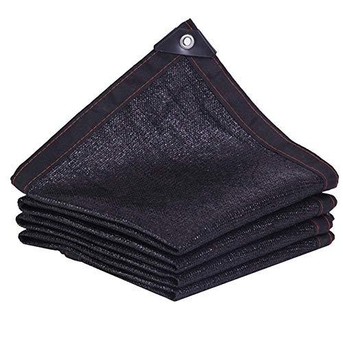 ZHAS Sichtschutz aus Stoff mit Ösen Schwarzes UV-Schutznetz für Gewächshaus-Pergola oder Schwimmbecken (Farbe: Schwarz, Größe: 3X4M)