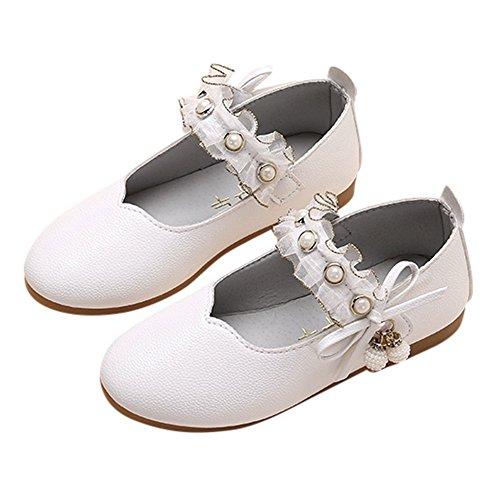 LHWY Lauflernschuhe Mädchen Kinder Mode Tanzschuhe Party Hausschuh Winter Mode Sandalen Perle Anhänger Dekoration Flache Schuhe für Baby Kind Jungen Mädchen - Perle Schwarz Outdoor-anhänger