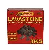 favorit 3050 Natur-Lavasteine für Gas- und Elektrogrills, 3 kg