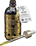Olio di Jojoba R&M - Olio di Jojoba 100% Bio spremuto a freddo per viso, corpo, capelli e molto altro ancora - Bella pelle, viso puro e capelli lucidi e forti - 100 ml per un commercio equo e solidale