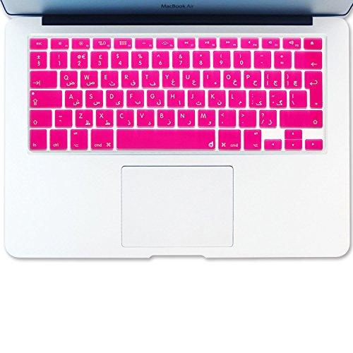 Pro Macbook Arabisch Retina 15 (Masino® arabischen Sprache Silikon Tastatur Cover Haut für europäische Version MacBook Air 33cm MacBook Pro mit/OUT Retina Display 33cm 38,1cm 43,2cm Apple Wireless Bluetooth Tastatur mc184ll/B Ultra Dünn, hot pink, ARABIC Language)