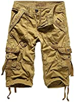 HEMOON Herren Savage Gladiator Cargo Shorts Regular Fit 3 Farben in W29-W38