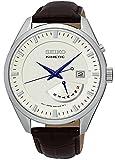 Seiko Kinetic Gents 100m Leather Strap Quartz Analog Watch - SRN071P1