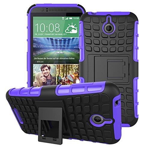 HTC Desire 510 Hülle, SsHhUu Premium Rugged Stoßdämpfung & Staubabweisend Kompletter Schutz Hybrid-Koffer mit Ständer Telefon Kasten für HTC Desire 510 4.7 Zoll (Lila) 510 Htc Telefon-kästen