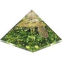 Crocon grün Onyx Energetische Pyramide mit Kristall Point Metall Blume des Lebens Energy Generator für Chakra... preisvergleich bei billige-tabletten.eu