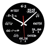 Reloj de matemáticas, reloj de pared único, reloj de pared diseño moderno, reloj de ecuaciones matemáticas - Cada hora marcada por una ecuación matemática simple.