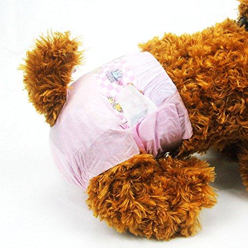 Pañales desechables para mascotas DONO para perros hembra (Súper absorbente y suave, pañales para calentar y hacer pañales XXS-M, incluidos 14-20 pañales para perros y gatos (XS 18count)