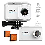 Action Kamera, WiMiUS L3 Action Cam 4K Aktionkameras mit 2.45'' LCD Touch Screen HD Actioncam...