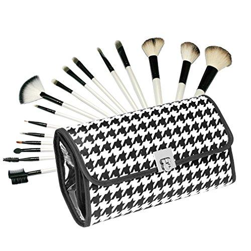 Ensemble de 16 pièces Kabuki Pinceaux Maquillage Make Up Brush Set et Cosmetic Brushes Case Poudre Fond de teint