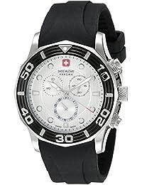 amazon co uk swiss military watches swiss military hanowa men s oceanic 06 4196 04 001 07 black silicone swiss chronograph watch