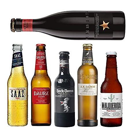 Pack de cervezas Damm AK Damm Malquerida cerveza Damm Daura Saaz Inedit Damm Bock Damm Cervezas para coleccionar o degu