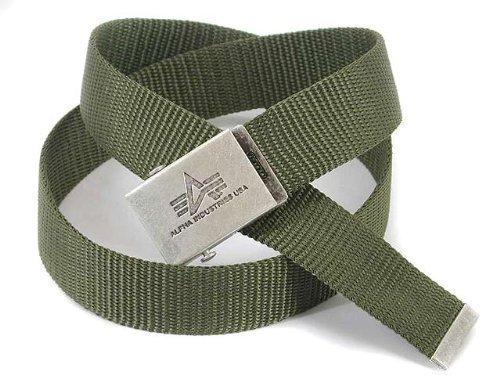 Alpha Industries G?rtel: Heavy Duty Belt 4 cm olive, Grn, 120cm