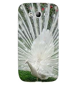 ColourCraft Dancing White Peacock Design Back Case Cover for SAMSUNG GALAXY GRAND NEO PLUS I9060I