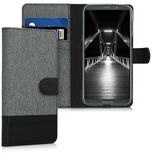 kwmobile Motorola Moto Z3 Play Hülle - Kunstleder Wallet Case für Motorola Moto Z3 Play mit Kartenfächern und Stand